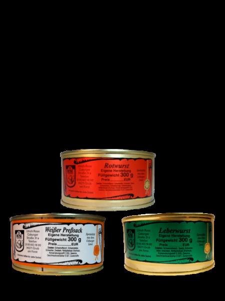 Fränkisches Brotzeit Probierpaket Rot- Weiß- und Leberwurst