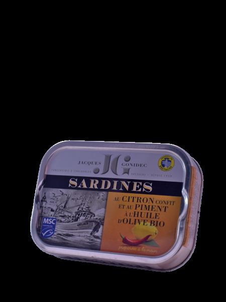 Jacques Gonidec - Sardinen mit Zitrone und Piment (115g) kaufen