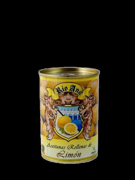 Grüne Oliven mit Zitronenpaste